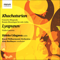 SIGCD312 - Khachaturian & Lyapunov: Works for violin and orchestra