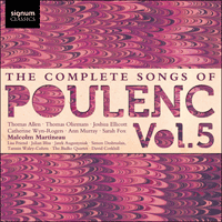 SIGCD333 - Poulenc: The Complete Songs, Vol. 5