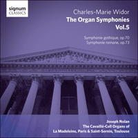 SIGCD347 - Widor: The Organ Symphonies, Vol. 5