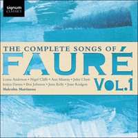SIGCD427 - Fauré: The Complete Songs, Vol. 1