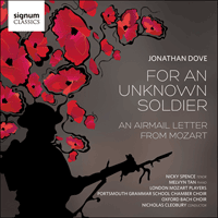 SIGCD452 - Dove: For an unknown soldier & An airmail letter from Mozart