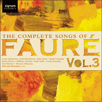 SIGCD483 - Fauré: The Complete Songs, Vol. 3