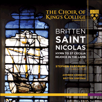 KGS0003 - Britten: Saint Nicolas & other choral works