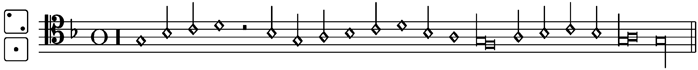 The original notation of the tenor part in Kyrie I for Josquin's Missa Di dadi